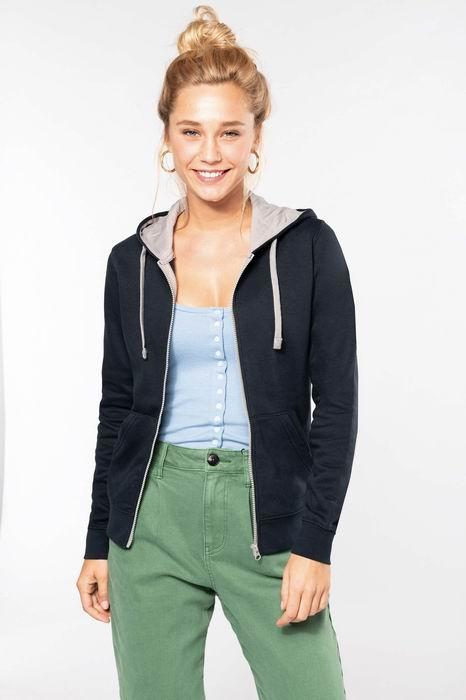 Dámská mikina s kontrastní kapucí Contrast Hooded Sweatshirt