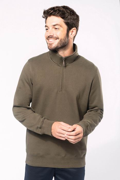 Mikina unisex Zipped neck sweatshirt