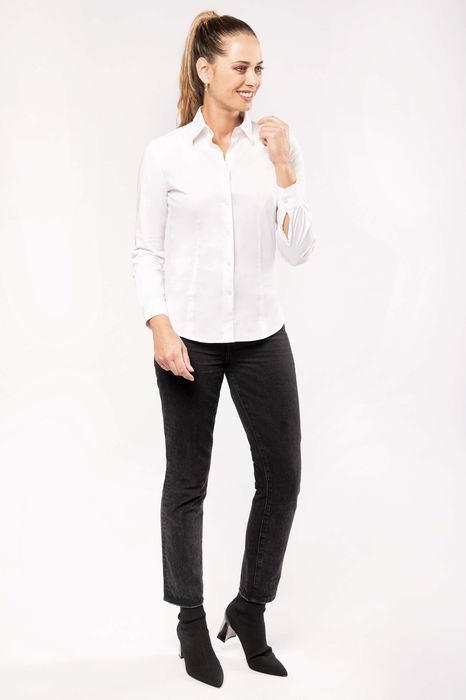 Dámská streèová košile s dlouhým rukávem