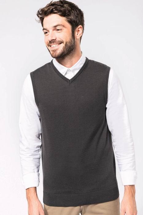 Pánská pletená vesta s výstøihem do V